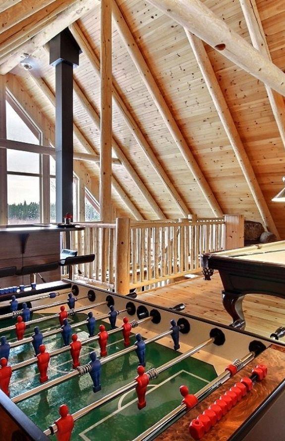 Carcajou - Salle de jeux à la mezzanine - Chalet Carcajou
