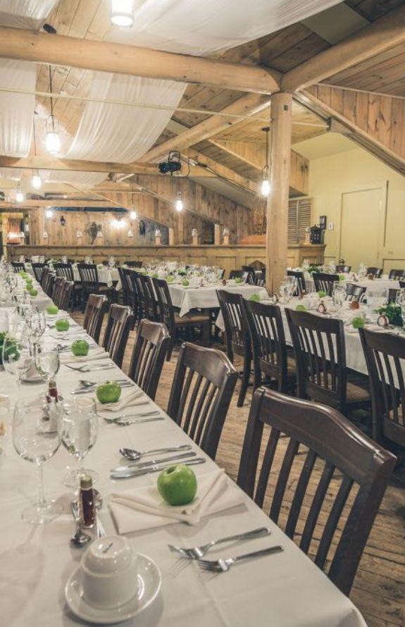 Carcajou - Salle de réception - Au Chalet en Bois Rond