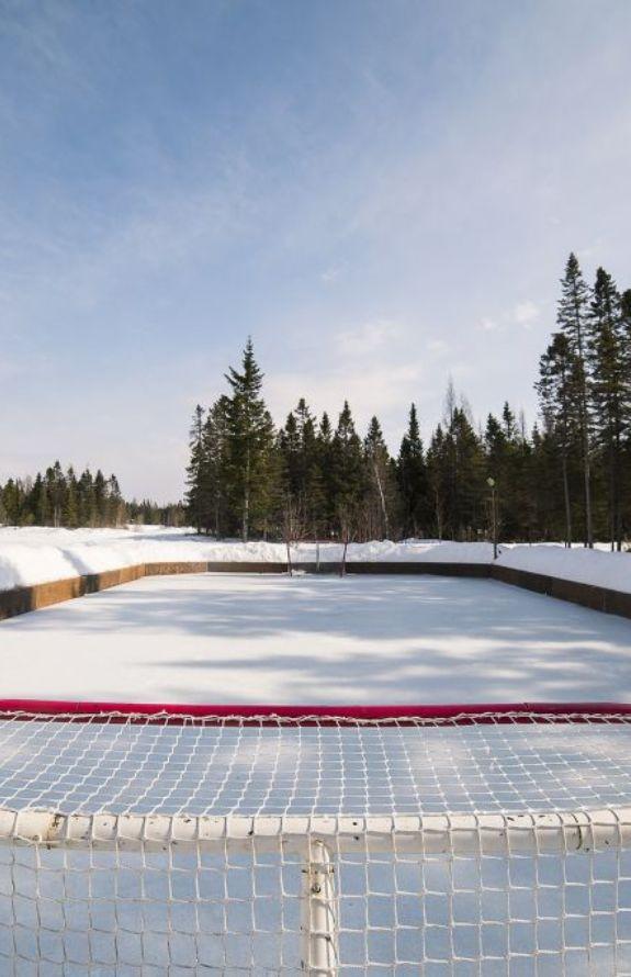 Aigle Royal - Patinoire de hockey - Au Chalet en Bois Rond