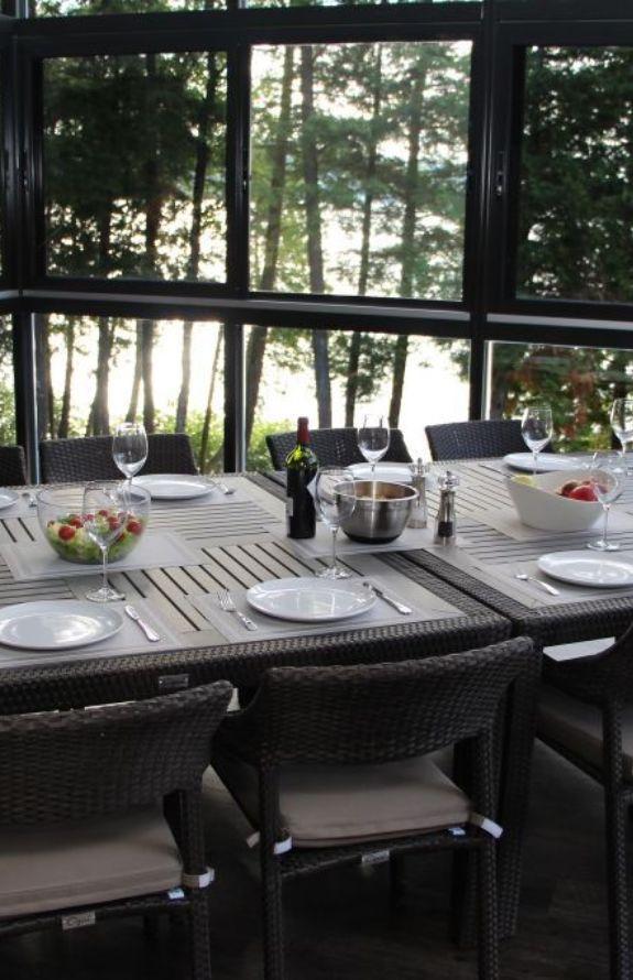 Chalet Movendo - Table de patio dans la vérenda