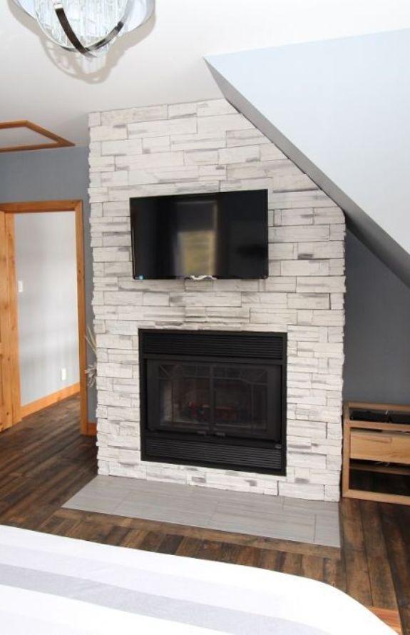 Chalet Movendo - Foyer au bois, chambre des maitres premier niveau